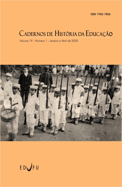 Capa: Batalhão da Escola Estadual Honório Guimarães (Arquivo João Quituba do CDHIS/UFU, JQ 189)