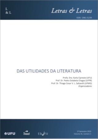 Capa: Das Utilidades da Literatura